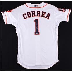"Carlos Correa Signed Astros ""50th Anniversary"" Patch Jersey (MLB Hologram)"