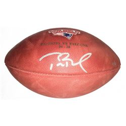 Tom Brady Signed LE Super Bowl 51 Logo Football (Steiner COA  TriStar)