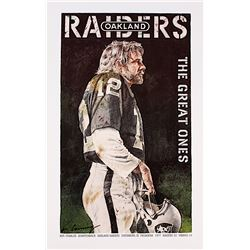 """Ken Stabler Raiders """"The Great Ones"""" 15.5"""" x 25"""" Merv Corning Signed Lithograph (Stabler LOA)"""