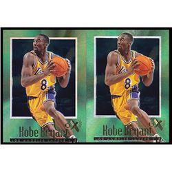Lot of (2) 1996-97 E-X2000 #30 Kobe Bryant RC
