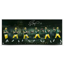 "Brett Favre Signed Packers ""Art of the Pass"" LE 15x36 Photo (UDA COA)"