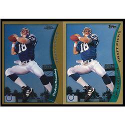 Lot of (2) 1998 Topps #360 Peyton Manning RC