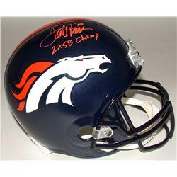 "Terrell Davis Signed Broncos Full-Size Helmet Inscribed ""2X SB Champ"" (Radtke COA)"