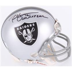 Rich Gannon Signed Raiders Mini-Helmet Inscribed  NFL MVP 2002  (Radtke Hologram)