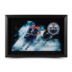 Jari Kurri Signed Oilers 16x24 Custom Framed Stick Blade (UDA COA)