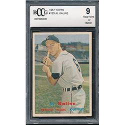 1957 Topps #125 Al Kaline (BCCG 9)