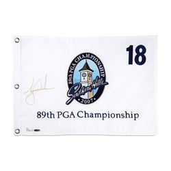 Tiger Woods Signed Limited Edition 2007 PGA Pin Flag (UDA COA)