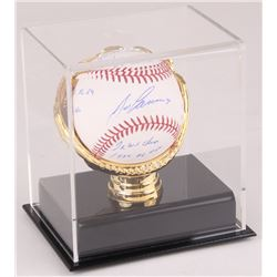 Jose Canseco Signed OML Baseball With Multiple Inscriptions in Display Case (Beckett COA)