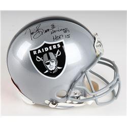 "Tim Brown Signed Raiders Full-Size LE Authentic On-Field Helmet Inscribed ""Heisman '87""  ""HOF 2015"""