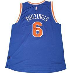 Kristaps Porzingis Signed Knicks Jersey (Steiner Hologram)