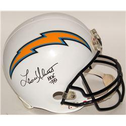"Lance Alworth Signed Chargers Full-Size Replica Helmet Inscribed ""Hof 78"" (JSA COA)"