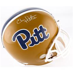 "Chris Doleman Signed Pitt Panthers Full-Size Helmet Inscribed ""HOF 12"" (JSA COA)"