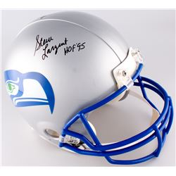 "Steve Largent Signed Seahawks Full-Size Authentic On-Field Throwback Helmet Inscribed ""HOF 95"" (JSA"