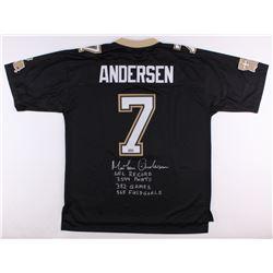 Morten Andersen Signed Saints Authentic NFL Pro-Line Jersey With (4) Inscriptions (Radtke COA)