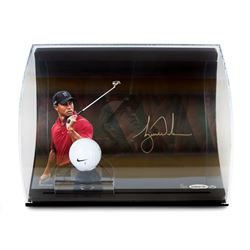 Tiger Woods Signed 8x10 Limited Edition Photo Display with Range Driven Ball (UDA COA)