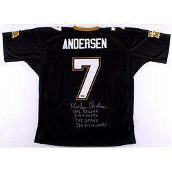 Morten Andersen Signed Saints Jersey With (4) Career Stat Inscriptions (Radtke COA)