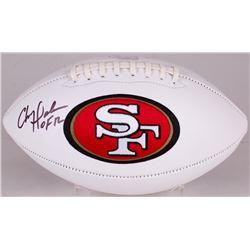 """Chris Doleman Signed 49ers Logo Football Inscribed """"HOF 12"""" (Radtke Hologram)"""