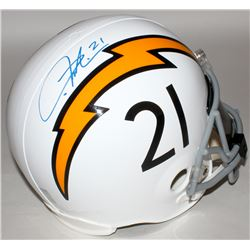 LaDainian Tomlinson Signed Chargers Full-Size Throwback Helmet (Tomlinson Hologram)