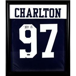 Taco Charlton Signed Cowboys 23x27 Custom Framed Jersey (Radtke COA)