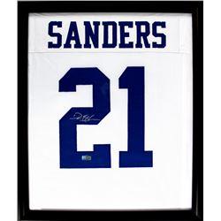 Deion Sanders Signed Cowboys 23x27 Custom Framed Jersey Display (Radtke COA)