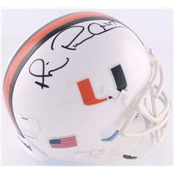 "Michael Irvin Signed Miami Hurricanes Mini-Helmet Inscribed ""Playmaker"" (Radtke COA  Irvin Hologram)"