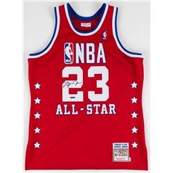 Michael Jordan Signed 1989 All Star Mitchell  Ness Throwback Jersey (UDA COA)