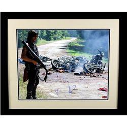 "Norman Reedus Signed ""The Walking Dead"" 23x27 Custom Framed Photo Display (Radtke COA)"