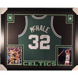 Kevin McHale Signed Celtics 35x43 Custom Framed Jersey (JSA COA)