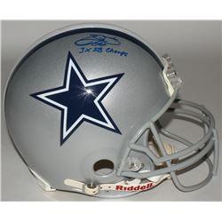 "Emmitt Smith Signed Cowboys Full-Size Authentic On-Field Helmet Inscribed ""3X SB Champs"" (Upper Deck"