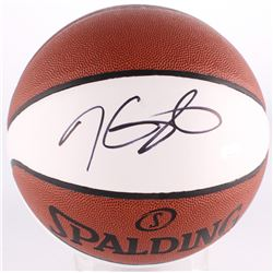 Kevin Durant Signed Warriors Logo Basketball (Panini COA)