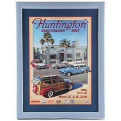 Jim Krogle Signed AP  Huntington 10th Annual Beachcruiser Meet  20.25x26.25 Custom Framed Lithograph