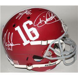 Eddie Lacy, Derrick Henry  Mark Ingram Signed Alabama Full-Size Helmet (Lacy, Henry  Ingram Hologram