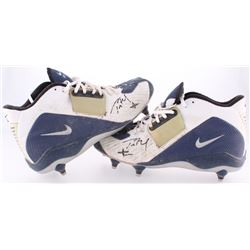 Tom Brady Signed Pair of 2003 Game-Used Nike Football Shoes (Patriots COA  TriStar Hologram)