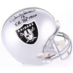 """Jim Plunkett Signed Raiders Full-Size Helmet Inscribed """"S.B. XV MVP"""" (Radtke COA)"""