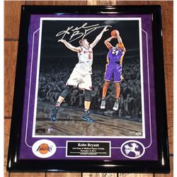 "Kobe Bryant Signed Lakers ""Last Game at MSG"" 16x20 Limited Edition Custom Framed Photo (Panini)"