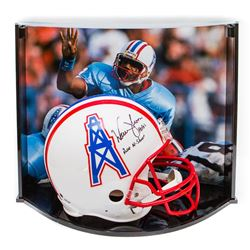 Warren Moon Signed LE Oilers Full-Size Authentic Pro-Line Helmet Inscribed  HOF 06    Run-N-Shoot  W