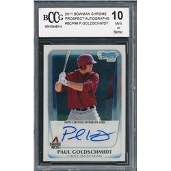 2011 Bowman Chrome Prospect Autographs #BCP99 Paul Goldschmidt (BCCG 10)