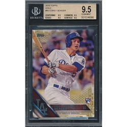 2016 Topps Gold #85 Corey Seager (BGS 9.5)
