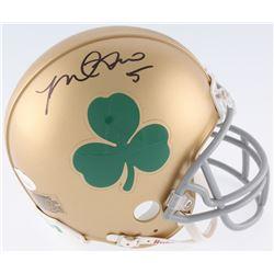 Manti Te'o Signed Notre Dame Fighting Irish Mini Helmet (JSA COA)
