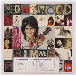 Ronnie Wood Signed 12.5x12.5 Vinyl Album Cover (Beckett COA)