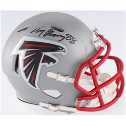Tony Gonzalez Signed Falcons Blaze Mini-Helmet (JSA COA)