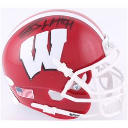 J.J. Watt Signed Wisconsin Badgers Mini-Helmet (JSA COA  Watt Hologram)