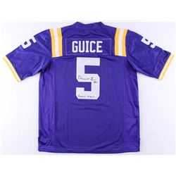 "Derrius Guice Signed LSU Tigers Jersey Inscribed ""Geaux Tigers""(JSA COA)"