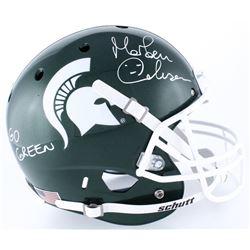 "Morten Anderson Signed Michigan State Spartans Full-Size Helmet Inscribed ""Go Green"" (Radtke COA)"