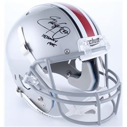"""Eddie George Signed Ohio State Buckeyes Full-Size Helmet Inscribed """"Heisman 1995"""" (JSA Hologram)"""