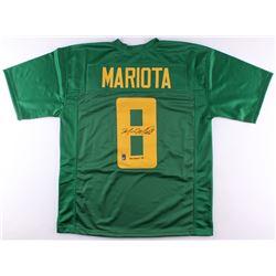 Marcus Mariota Signed Oregon Ducks Jersey (Mariota Hologram)
