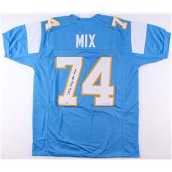 """Ron Mix Signed Chargers Jersey Inscribed """"HOF 1979"""" (SGC COA)"""