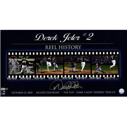 "Derek Jeter Signed Yankees ""The Flip"" 12x23 Filmstrip Collage Photo (Steiner COA)"
