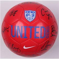 Nike Team USA Soccer Ball signed by (9) Morgan Bryan, Becky Sauerbrunn, Carli Lloyd,  Hope Solo (JSA