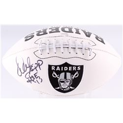 "Warren Sapp Signed Raiders Logo Football Inscribed ""HOF '13"" (JSA COA)"